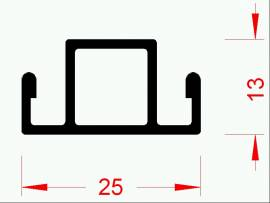 Quersprosse 25 x 13 mm á 144 cm - Bild vergrößern