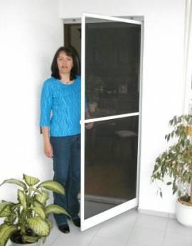 Insektenschutz Tür 100 x 210 cm - weiss * Rahmen 25x11 mm * - Bild vergrößern