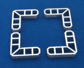Eckverbinder-Set aus Aluminium für Rahmenprofil 30x13
